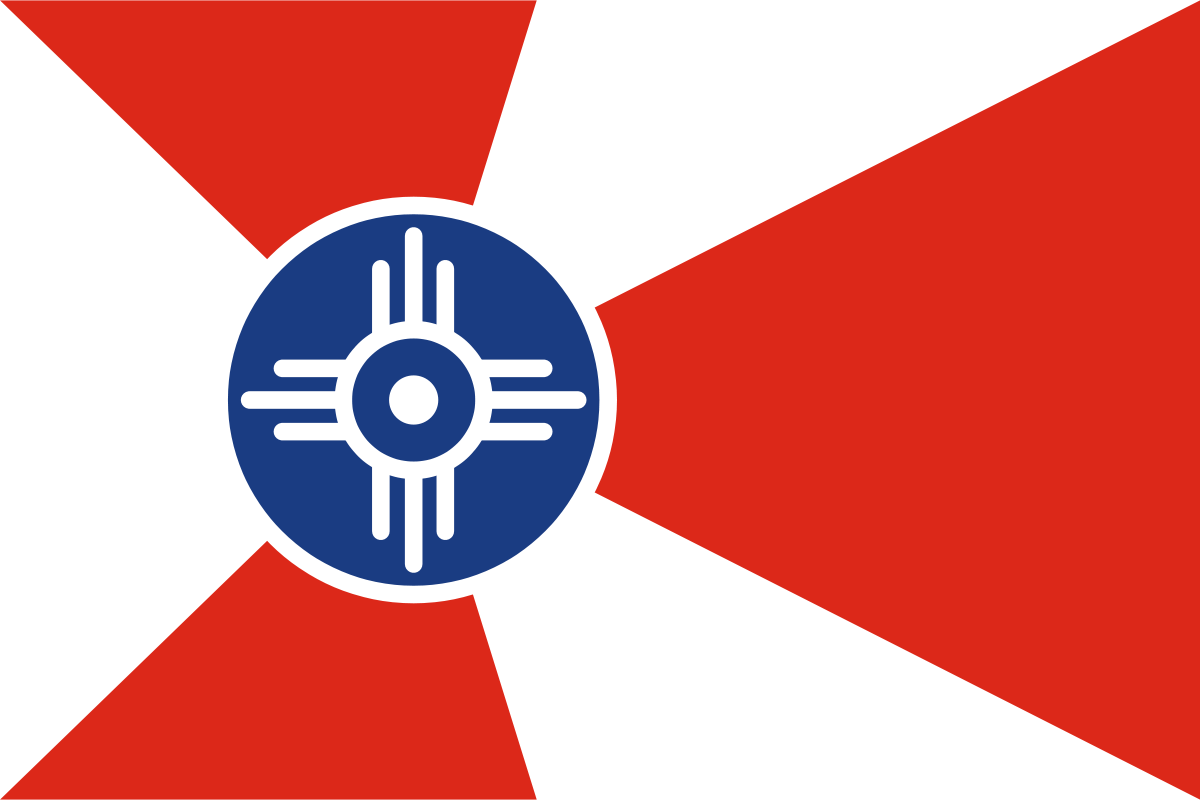 Raising the Wichita Flag
